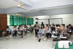 mahasiswa dari Guangxi University dalam acara penyambutan