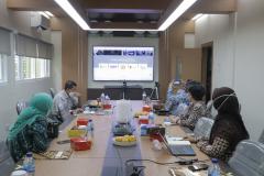 Rapat Koordinasi Steering Committee Publikasi Ilmiah Bidang Ilmu Sosial bersama anggota Konsorsium pada Rabu, 17 Maret 2021 di Universitas Nasional