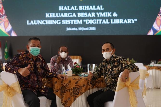 Para tamu undangan yang hadir dalam acara Launching System Digital Library pada Kamis 10 Juni 2021 di Gedung Cyber Library UNAS