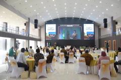 Saat acara Launching System Digital Library berlangsung pada Kamis 10 Juni 2021 di Gedung Cyber Library UNAS