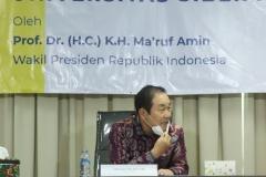 Rektor Unsia, Prof. Jang Youn Cho, Ph.D, CPA saat memberikan sambutan dalam acara Peresmian Universitas Siber Asia oleh Wakil Presiden Republik Indonesia (RI), Prof. Dr. (HC) KH Ma'ruf Amin pada Selasa, 22 September 2020
