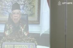 Wakil Presiden Republik Indonesia Prof. Dr. (HC) KH Ma'ruf Amin saat meresmikan Universitas Siber Asia  pada Selasa, 22 September 2020