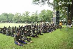 Persiapan para peserta melakukan outbound dihari ketiga pelaksanaan PKKM pada Minggu, (8/11) di Rindam Jaya