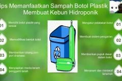 Pemberian materi tentang menanam tanaman hidroponik dan pengelolaan barang bekas oleh mahasiswa  dalam kegiatan PKM pada Sabtu 26 Desember 2020