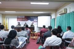 Suasana saat pelaksanaan Pendidikan Khusus Profesi Advokat (PKPA) di Universitas Nasional, pada Senin, 02 Desember 2020