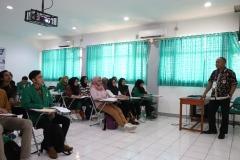 Kondisi saat pemaparan materi oleh Kepala Biro Kemahasiswaan Kamaruddin Salim, S.Sos.,M.Si. dalam kegiatan PLBA UNAS, di Jakarta, (21/3)