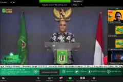 Rektor Universitas Nasional Dr.Drs. El Amry Bermawi Putera, M.A. saat memberikan sambutan dalam Pengenalan Lingkungan dan Budaya Akademik (PLBA) via online pada Kamis, (17/9)
