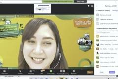 Moderator Tjut Shafina dalam Pengenalan Lingkungan dan Budaya Akademik (PLBA) via online pada Kamis, (17/9)