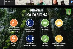 Penyampaian materi oleh Perwakilan Ikatan Alumni Fabiona Bambang Warsono dalam kegiatan PLBA Fakultas Biologi pada hari Sabtu, 25 September 2021