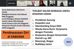 Penyampaian materi oleh Guru Besar Universitas Nasional Prof. Dr. Endang Sukara dalam kegiatan PLBA Fakultas Biologi pada hari Sabtu, 25 September 2021