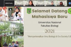 Penyampaian materi kegiatan PLBA Fakultas Biologi pada hari Sabtu, 25 September 2021