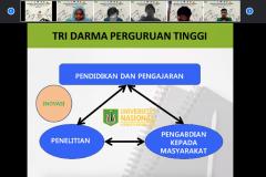 Penyampaian materi oleh Dekan Fakultas Biologi UNAS Dr. Tatang Mitra Setia, M.Si., dalam kegiatan PLBA Fakultas Biologi pada hari Sabtu, 25 September 2021