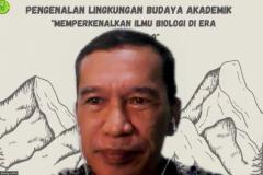 Dekan Fakultas Biologi UNAS Dr. Tatang Mitra Setia, M.Si., menyampaikan materi dalam kegiatan PLBA Fakultas Biologi pada hari Sabtu, 25 September 2021