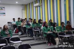 Suasana saat kegiatan Pengenalan Lingkungan Dan Budaya Akademik Semester Genap 2019/2020 di ruang teater blok 3 lantai 4 Kamis (5/3)