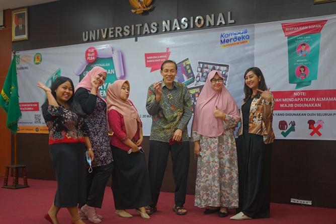 Foto bersama panitia PLBA pada Sabtu, (20/3) di Universitas Nasional