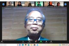 Dekan Fakultas Pertanian, Ir. Inkorena G.S. Sukartono, M.Agr. saat memberikan sambutan dalam PLBA Fakultas Pertanian pada Sabtu, 25 September 2021