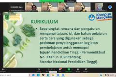 Penyampaian materi oleh instruktur dari fakultas pertanian UNAS dalam  PLBA Fakultas Pertanian pada Sabtu, 25 September 2021