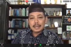 """Ketua Pusat Pengajian Islam Universitas Nasional Dr. Fachruddin Mangunjaya saat memberikan sambutan dalam kegiatan kajian jum'at #12 bertajuk diskusi dan bedah buku """"Muslim Environmentalism"""" pada Jumat, (18/9) di Jakarta melalui aplikasi zoom meeting"""