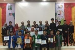 Foto bersama pemenang lomba pada sociologi fair 2019 di Universitas Andalas