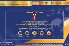 Acara Penganugerahan LIPI Sarwono Award XIX tahun 2021 kepada Guru Besar Universitas Nasional, Prof. Dr. Endang Sukara pada bidang Mikrobiologi