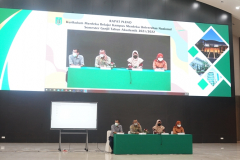 Pembukaan kegiatan Rapat Pleno Kurikulum MBKM di Auditorium Cyber Library Unas