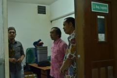 asesor sedang keliling melihat situasi kondisi UNAS