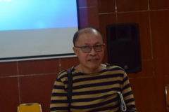 Drs. Faldy Rasyidie dalam acara reuni sastra unas 2017