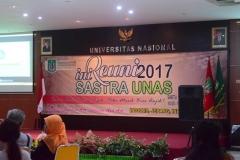 banner dalam reuni sastra unas 2017
