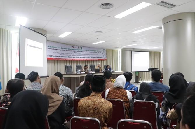 Saat Seminar Sistem Keuangan Syariah Bagi UKM & UMKM