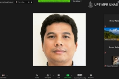 Direktur Sumbawa Technopark atau Ketua Dewan Riset Daerah Kab. Sumbawa Dr. Arief Budi Witarto, M.Eng. saat memaparkan materinya dalam Samota Talk : Mengusung Partisipasi Stakeholders dalam Tata Kelola Cagar Biosfir Selasa, 24 November 2020
