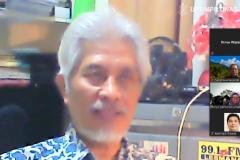 Guru Besar Universitas Nasional Prof. Dr. Endang Sukara, Ph.D. saat memaparkan materinya dalam Samota Talk : Mengusung Partisipasi Stakeholders dalam Tata Kelola Cagar Biosfir Selasa, 24 November 2020