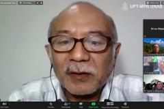 Guru Besar Universitas Nasional Prof. Dedy Darnaedi, Ph.D. saat memaparkan materinya dalam Samota Talk : Mengusung Partisipasi Stakeholders dalam Tata Kelola Cagar Biosfir Selasa, 24 November 2020