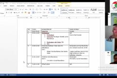 Saat acara Sosialisasi dan Pelatihan Penggunaan Open Journal System  belangsung melalui aplikasi zoom pada Senin 1 Maret 2021