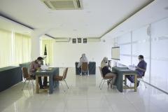 Situasi saat pelaksanaan tes tahap wawancara yang merupakan proses tahap akhir, sebelum  ditetapkan sebagai Penerima KIP Kuliah di Universitas Nasional.