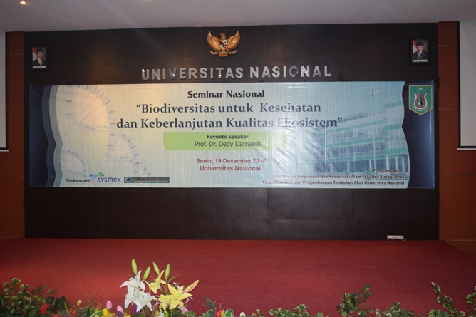 Unas_seminar biodiversitas di aula Unas