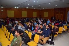 para peserta seminar himasi sedang mendengarkan materi