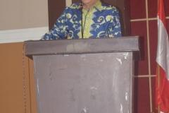 Bapak Rambe saat memberikan sambutannya dalam pembukaan seminar