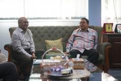 Ramah tamah yang dilakukan oleh Faldi Zon Ketua Umum DPN HKTI kepada Rektor Universitas Nasional Dr.Drs. El Amry Bermawi Putera, M.A di Kampus Universitas Nasional Jakarta (10/7).