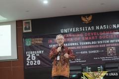 Pemaparan materi oleh Ketua Atikom Pusat/ Dewan TIK Nasional Prof. Zainal A. Hasibuan, Ph.D