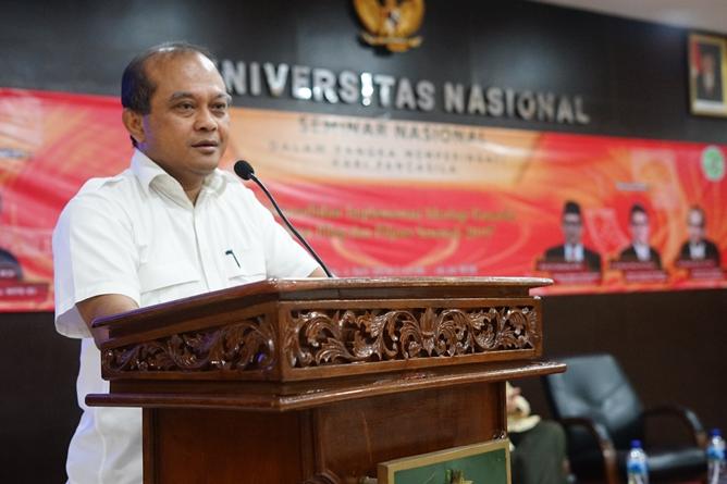 Dosen Ilmu Politik Universitas Nasional Drs. Ganjar Razuni, S.H., M.Si.