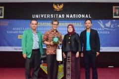 foto bersama Sekjen BPK RI dengan Dekan FISIP dan Ketua Prodi Administrasi Negara