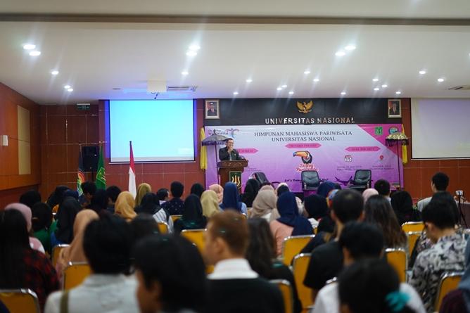 Dialog Pariwisata di Aula blok 1 lantai 4 Universitas Nasional, Selasa (25/6)