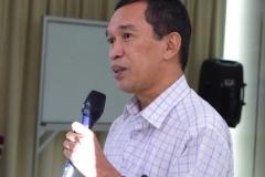 Dr. Tatang Mitra Setia, M.Si. (Ketua Prodi Magister Biologi Sekolah Pascasarjana UNAS) Sedang Mengisi Materi Seminar