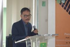 Drs. Andi Achdian, M.Si. selaku pengajar sejarah indonesia dan Asia tenggara UNAS dalam acara seminar