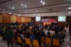 kemeriahan para perserta seminar saat mengikuti acara