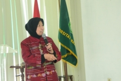 Pemberian materi oleh Prof. Dr. Ernawati Sinaga MS.Apt. IWWASH