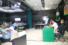 Suasana saart kegiatan Seminar Porang Nasional 2020 berlangsung di Gedung Kementerian Pertanian Republik Indonesia pada Sabtu (14/3)