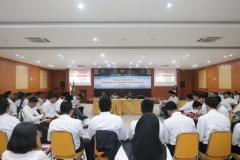 Saat proses pelatihan berlangsung di Aula Blok 1 lantai 3 UNAS, Jumat (10/5)