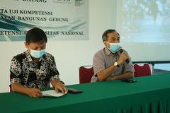 Sambutan oleh Manajer Sertifikasi LSP TOBG, Muhdi Agustianto