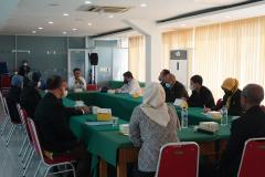Serah terima jabatan dekan fisip pada Rabu, 1 September 2021 diruang seminar UNAS
